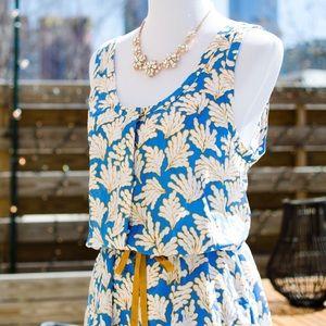 Diane Von Furstenberg Sleeveless Blue Romper Sz 10